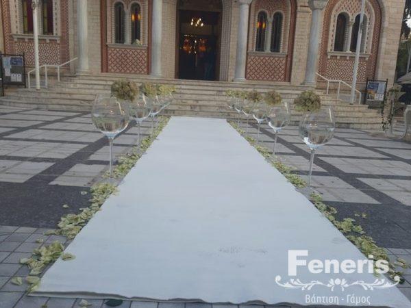 Στολισμός γάμου-σκάλες Διάδρομος Αγ. Παρασκευή Μενεμένης