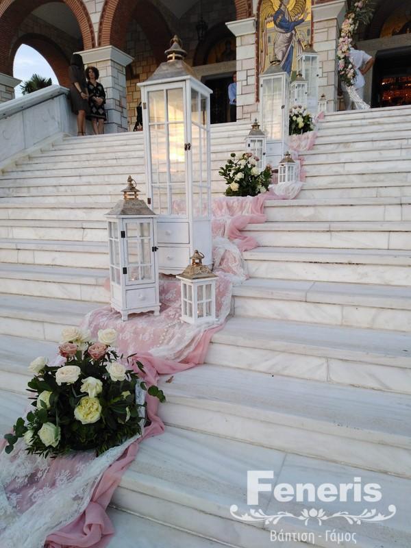 Στολισμός γάμου-σκάλες Παναγία Μηχανιώνα