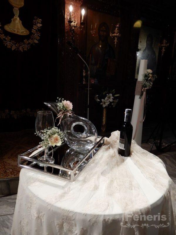 Στολισμός Γάμου με Μπρονζέ Πινελιά