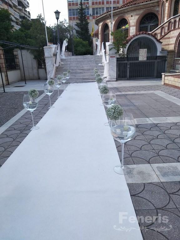 Στολισμός γάμου-σκάλες Ονειρικός διάδρομος