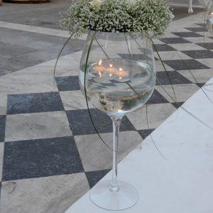 Στολισμός γάμου-σκάλες Στεφάνια Γυψοφίλης