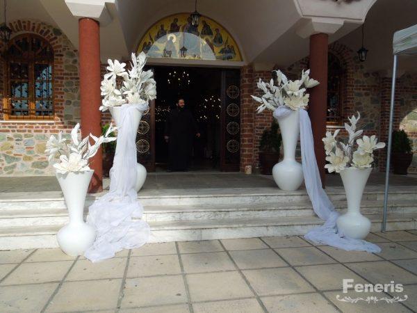 Στολισμός γάμου-σκάλες Μεγάλα Βάζα