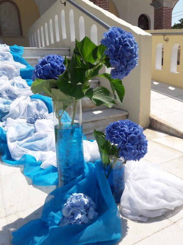 Στολισμός γάμου-σκάλες Ορτανσία