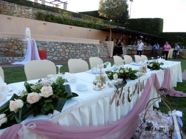 Στολισμός αίθουσας γάμου Κτήμα Χρηστίδη