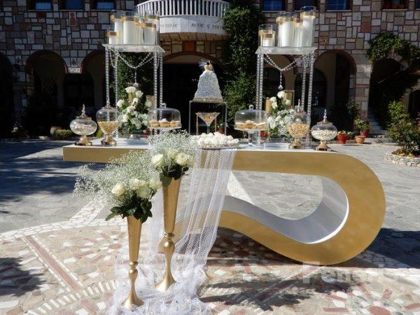 Στολισμός Γάμου Χρυσά Στοιχεία
