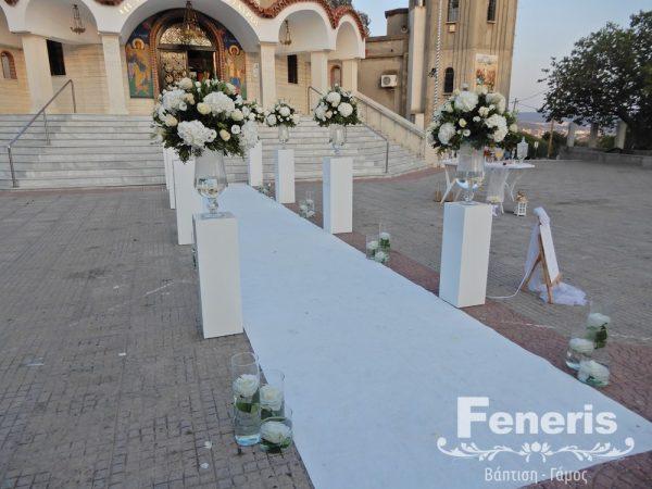 Στολισμός Γάμου Λευκό τραπέζι - Γαλήνη